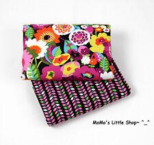 Beautiful Vera Bradley 100% Cotton Fabric (Va Va Bloom)——2 Matching Fat Quarters
