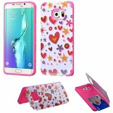 Patterned Card Pocket Cases for Samsung Galaxy S6