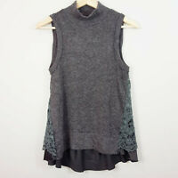 ANTHROPOLOGIE | Moth Womens Lace Detail Knit Top NEW [ Size XS or AU 8 / US 4 ]