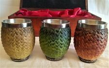GAME OF THRONES - BOXED SET OF 3 TARGARYEN DRAGON EGG SHOT GLASSES - NEMESIS NOW