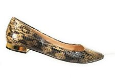 Tory Burch Women Shoes Leather Lizard Slip On Flats Tan Brown Loafers Size 7 M