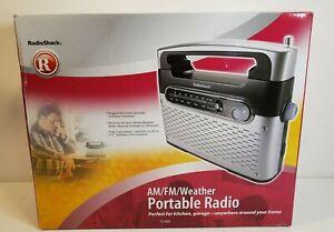 Radio Shack Portable Analog AM FM WX Weather Radio 12-889 AC/DC 12v w/Power Cord
