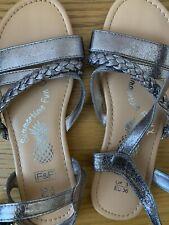 BNWOT Girls Sandals Size 3 F&F