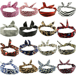 WIRE HEADBAND HEAD SCARF ROCKABILLY WIRED HAIR BAND VINTAGE 50S 60S PIN UP