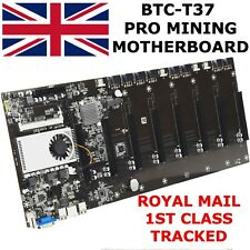 More details for new btc-t37 pro mining motherboard supports 8 gpus, hm 77, eth, ddr3, intel