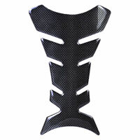 Universal 3D Carbon Fiber Moto Motorcycle Gas Fuel Gel Tank Pad Protect Scratch