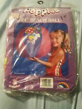 "*RARE* Vintage 24"" ERO Beach Ball Inflatable Pool Toy popples vinyl puffball"