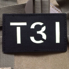 GLOW IR T31 Call Sign MILSPEC Special Forces AIRSOFT TACTICAL BADGE PATCH
