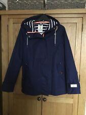 Joules Coast Waterproof Navy Women Jacket Size 10