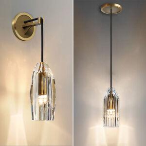 Crystal Pendant Light Kitchen Lamp Barss Wall Light Bedroom Lobby Wall Sconce