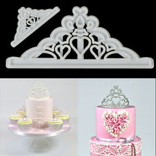 2pc Crown Cutter Plastic Fondant Wedding Cake Mold Cupcake Decorating Tools DIY