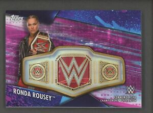 2020 Topps WWE Wrestling Ronda Rousey Championship Plate Patch /150