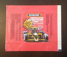 1986 Scanlens Australian Motor Racing Cards - Wax Pack Wrapper