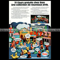 ESSO Station-Service 'Les figurines Glup's' 1972 - Pub Publicité / Ad #A830