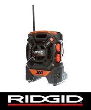 NEW RIDGID 18v 18 VOLT X4 PORTABLE RADIO AM/FM MP3 AUX LITHIUM-ION NI-CAD R84084
