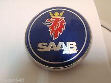 SAAB  BLUE Bonnet Badge 9-3 03-12 & 9-5 97-10 68mm/63mm FREE UK P&P