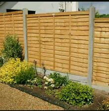 Wooden Fencing Panel  / Larch Lap  Waney 6ft x 5ft very heavy duty in stock