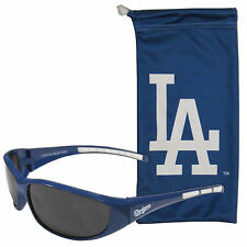 Los Angeles Dodgers Wrap Sunglasses with Microfiber Bag MLB Licensed Eyewear
