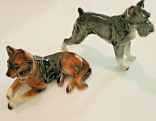 Collectible 2 Lefton Porcelain Dog Figurines Schnauzer/Collie Very Nice