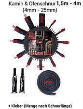 Kordel Dichtschnur Dichtband Kleber 4-25mm Durchmesser Ofendichtung Kamin Ofen