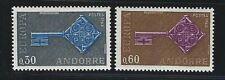 1968 Andorra (Fr) Scott #182-183 - EUROPA Set of 2 Stamps - MNH