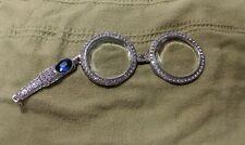 Opera Glasses Magnifying Pendant Rhinestones Elton John Theater Victorian Fun
