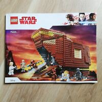 LEGO - INSTRUCTIONS BOOKLET ONLY Sandcrawler - Star Wars - 75220