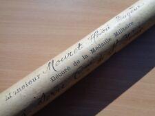 c.WW1 FRENCH Military Medal Scroll Tube - RARE ORIGINAL (40cm Long)