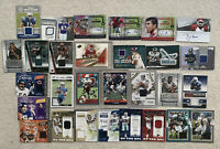 NFL Football Jersey Card & Autographed Card Lot (32) + 2 Free Bonus Cards