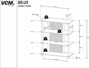 VCM Hifi Möbel Rack Phono Turm Medienrack Medienmöbel Regal Tisch Alu Glas