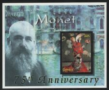 Gambia 2001 Monet Painting S/S Sc# 2472 NH