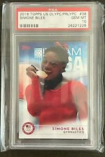 2016 Topps US Olympics & Paralympics Simone Biles #38 🔥PSA 10🔥 Gem Mint !