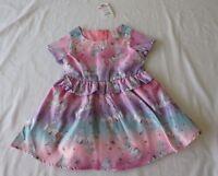 GIRLS size 4 UNICORN  SATIN   PARTY formal  DRESS Target   NEW