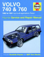 Haynes Manual Volvo 740 & 760 1982 - 1991 up to J Reg. Petrol Haynes manual 1258