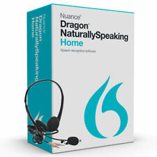 Nuance Dragon Naturally Speaking Home 13 Version 13.0 w/ Headset for Windows 10