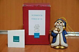 """THUN Collezione """"Babbo Natale Blu"""" Statuina Esclusiva Rara THUN Originale"""