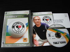Microsoft Xbox 360 complete in case Table Tennis Family Hits tested
