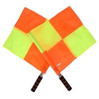 2PCS/Set Champion Sports Linesman Referee Football Soccer Flags + Carry Bag