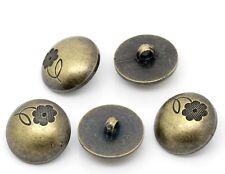 10 PZ in Resina da Cucire Gambo Bottoni Scrapbooking Rotondo Bronzo Antico (71)