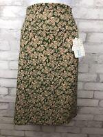 NWT Lularoe Cassie Pencil Skirt Pink Green Triangle Geometric Print XL