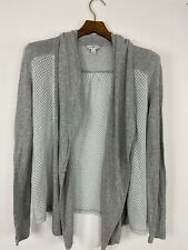 Lucky Lotus Womens Cardigan Sweater Gray Size S