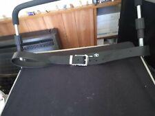 """Nwot Men's Black Leather Tag Belt 42"""" Waist"""