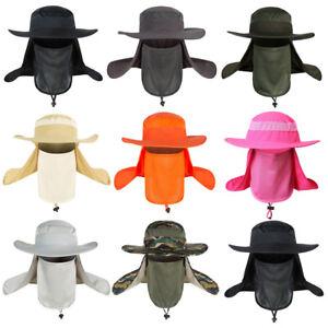 Men Summer Wide Brim Sun Protection Hat Breathable Outdoor Fishing Fisherman Cap