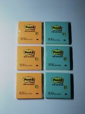 Lot Of 6 Post It Notes Super Sticky Pads 3 Of Each Various Colors 3x3