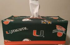 NCAA Miami Hurricanes Tissue Box Cover (rectangular) Handmade