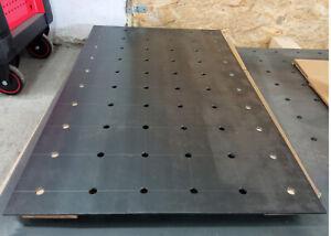 Schweißtischplatte Werkstatt Schweißzubehör Schweißtisch 1000x600x5 mm.