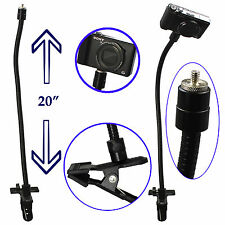 "Camera Mount Holder Tripod 1/4"" Thread 20"" Flexible Gooseneck Arm + Strong Clamp"