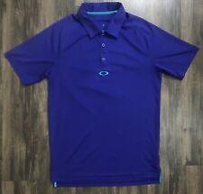 Oakley Hydrolix Short Sleeve Golf Polo Size Men's Small Blue Purple EUC