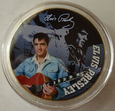 ELVIS PRESLEY THE KING OF ROCK N ROLL  24K GOLD  PLATED MEMORABILIA COIN #26s