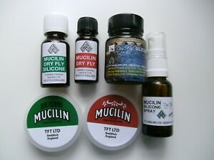 MUCILIN FLOATANT PRODUCTS - DRY FLY / LINE TREATMENT - SPRAY / LIQUID / GREASE